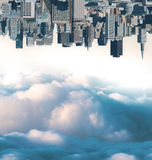 Abstract city and sky wallpaper stock photos