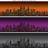 Abstract City Skyline Banners Vector Stock Images