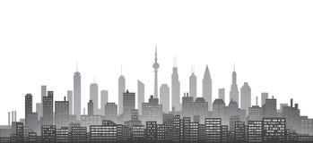 Abstract city skyline Royalty Free Stock Photos