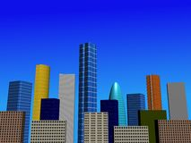 Abstract city skyline illustration Royalty Free Stock Image