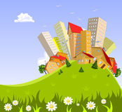 Abstract  city - summer Royalty Free Stock Photo