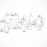 Abstract city theme background Stock Photo