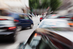 Abstract city traffic Stock Images