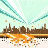 Abstract city vector Royalty Free Stock Photo