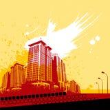 abstract city vector Стоковая Фотография RF