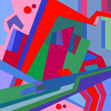 Abstract city. Vector illustration. Abstract surreal vector illustration of city Stock Photo