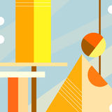 Abstract Cityscape. Some Abstract Cityscape on the Summer Day royalty free illustration