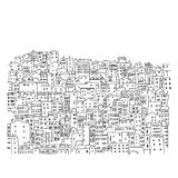 Abstract cityscape background, sketch for your. Design. Vector illustration stock illustration