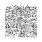 Abstract cityscape background, sketch for your design Stock Photography