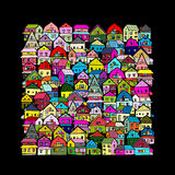 Abstract cityscape background, sketch for your design Royalty Free Stock Photos