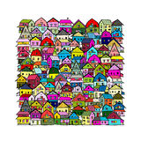 Abstract cityscape background, sketch for your design Stock Photo
