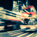 Abstract cityscape blurred background. Hong Kong Stock Image