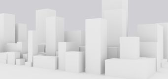 Abstract cityscape. Abstract generic group of buildings Royalty Free Stock Photography
