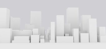 Abstract cityscape. Abstract generic group of buildings Royalty Free Stock Photos