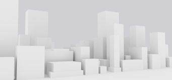 Abstract cityscape. Abstract generic group of buildings Stock Photo