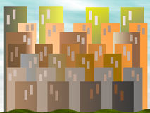Abstract Cityscape Illustration stock photo