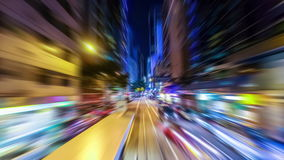 Abstract cityscape traffic background with motion blur. Hong Kong stock video
