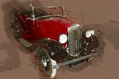 Abstract classic car illustration. . Contains clipping path Stock Images