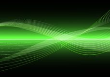 Abstract Clean Vector Wave Background. Green Abstract Clean Vector Wave Background Royalty Free Stock Photos