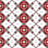 Abstract clean white texture or background with modern red pattern made seamless Royalty Free Stock Photography