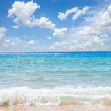 Abstract blured sea background stock photography