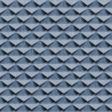 Abstract clippings - seamless pattern - blue jeans cloth Royalty Free Stock Photo