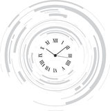 Abstract clock. An abstract black clock with a circle background Royalty Free Stock Images