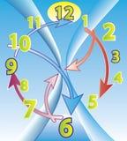 Abstract clock Stock Photo