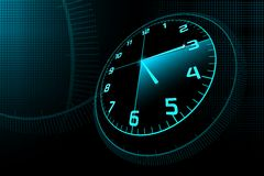 Abstract Clock. Illustration of abstract clock on checked background Royalty Free Stock Image