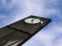 Abstract clock. Blue sky Royalty Free Stock Photography