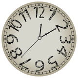 Abstract clock against white Royalty Free Stock Image