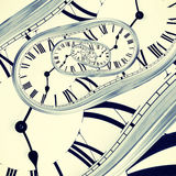 Abstract clock Royalty Free Stock Photography