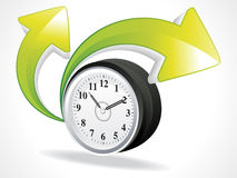 Abstract clock with arrows Royalty Free Stock Photography