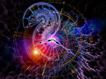 Abstract clock background Stock Photo