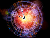 Abstract clock background. Artistic abstraction on the subject of time sensitive issues, deadlines, scheduling, temporal processes, past, present and future Royalty Free Stock Photography