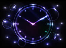 Abstract clock background Royalty Free Stock Photos