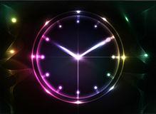 Abstract clock background. Conceptual vector stock illustration