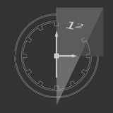 Abstract clock. On background. Vector illustration. EPS 10, opacity Stock Photo