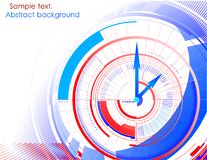 Abstract clock colorful background. Vector Stock Images
