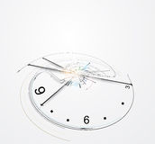 Abstract clock computer technology concept business background Royalty Free Stock Photography