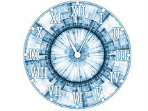 Abstract Clock Face Royalty Free Stock Images