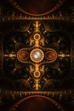 Abstract Clock Jewel Fractal Flame Background Royalty Free Stock Photos
