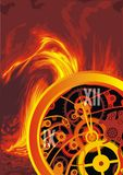 Abstract clock machine background Stock Images