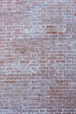 Old brick wall, old texture of red stone blocks closeup Royalty Free Stock Photos