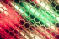 Abstract close up bubble wrap sheet with colorful background royalty free stock photos
