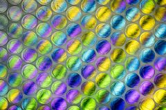 Abstract close up bubble wrap sheet with colorful background stock images