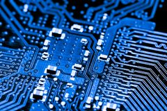 Close up of Circuits Electronic on Mainboard Technology computer background  logic board,cpu motherboard,Main board,sys Stock Image
