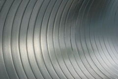 Abstract close up inside large steel tubing Royalty Free Stock Images