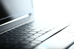 Abstract close-up laptop Stock Photo