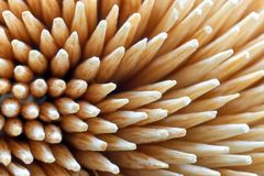 Close-up of wooden cocktail sticks royalty free stock photos